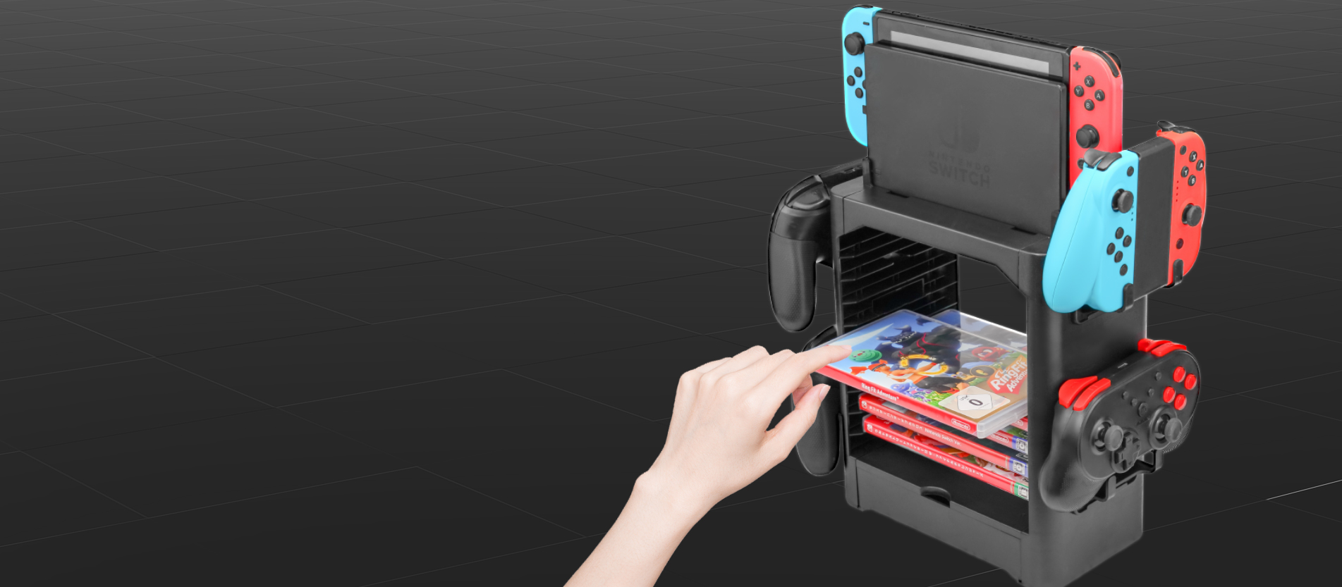 one stop storage stand for nintendo switch