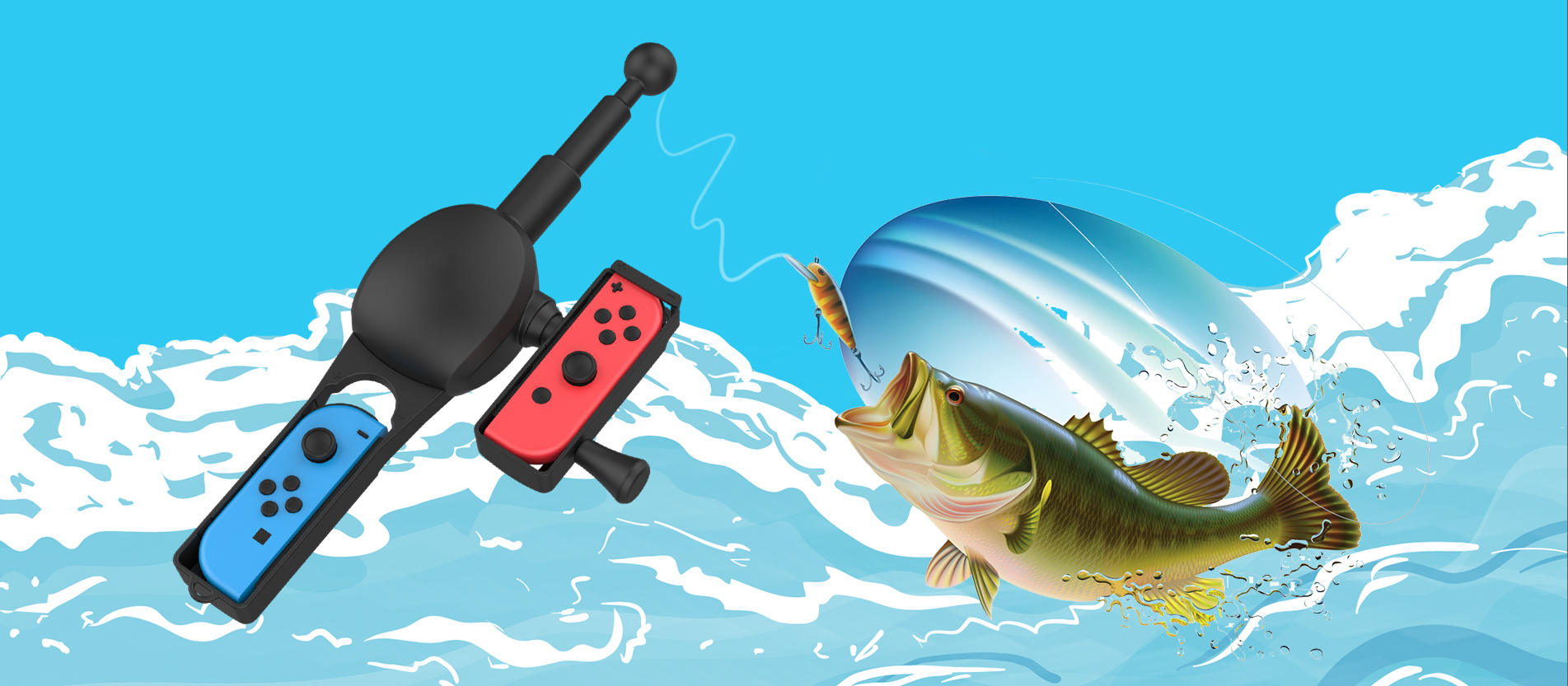 fishing rod forace angler nintendo switch