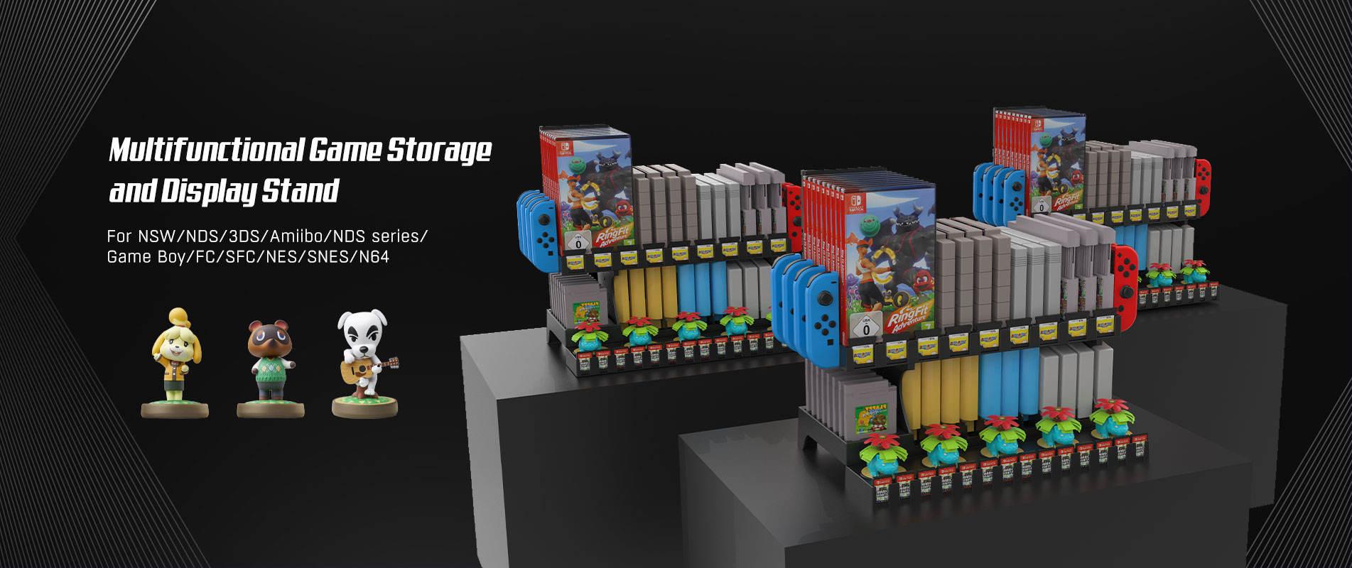 nintendo classic games storage stand
